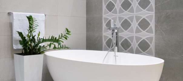 Grey Modern bathroom tiles designs